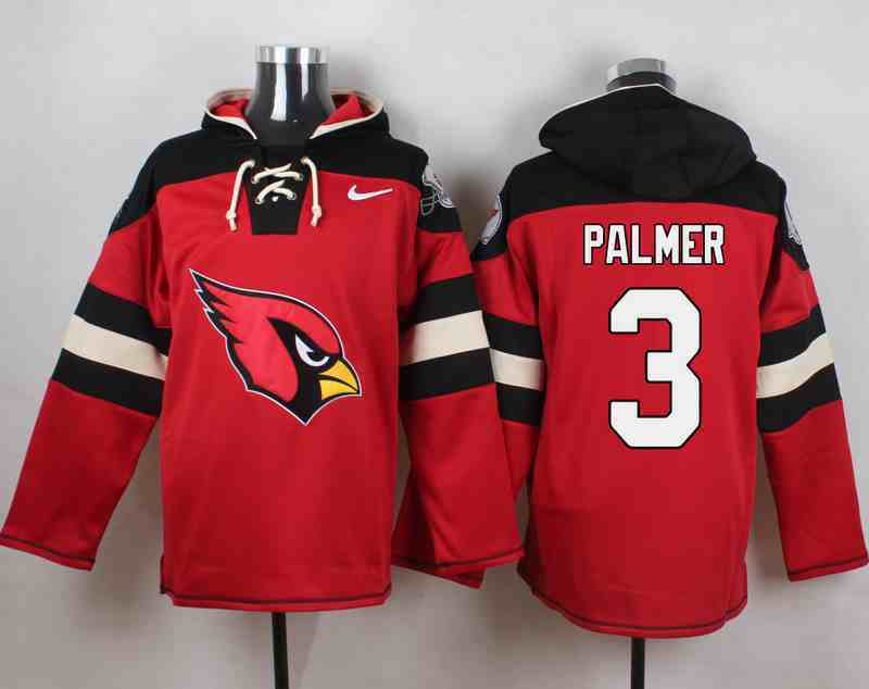 Nike Cardinals 3 Carson Palmer Red Hooded Jersey