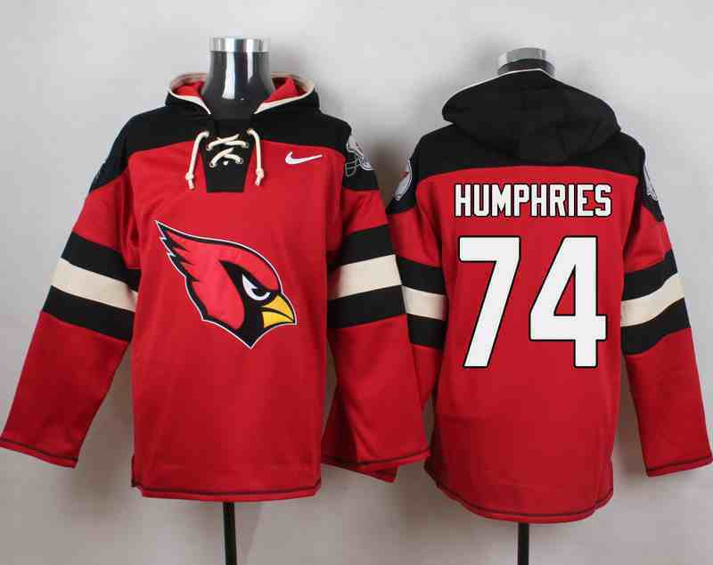 Nike Cardinals 74 D.J. Humphries Red Hooded Jersey