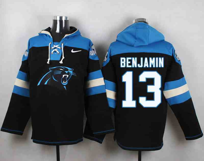 Nike Panthers 13 Kelvin Benjamin Black Hooded Jersey