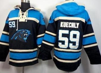 Carolina Panthers #59 Luke Kuechly Black Sawyer Hooded Sweatshirt NFL Hoodie