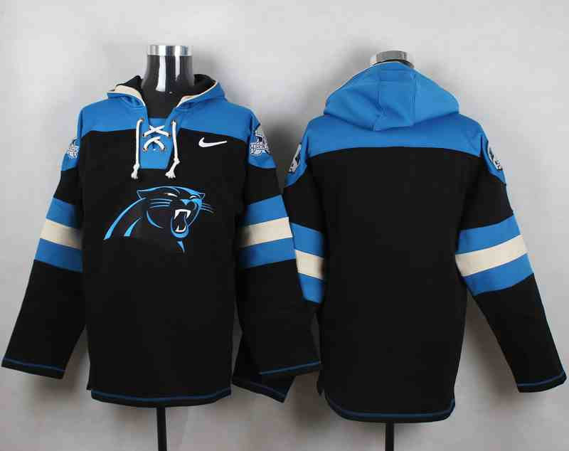 Nike Panthers Blank Black Hooded Jersey