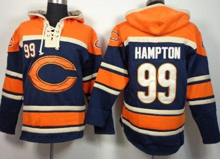 Nike Chicago Bears #99 Dan Hampton Blue Sawyer Hooded Sweatshirt NFL Hoodie