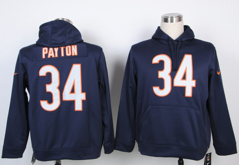 Nike Chicago Bears #34 Walter Payton Blue Hoody