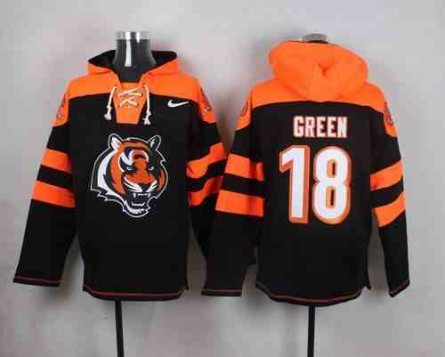 Nike Bengals 18 A.J. Green Black Hooded Jersey