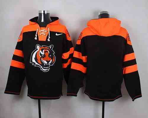 Nike Bengals Blank Black Hooded Jersey