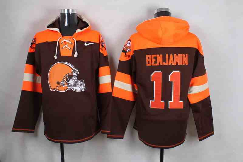 Nike Browns 11 BENJAMIN  Brown Hooded Jersey