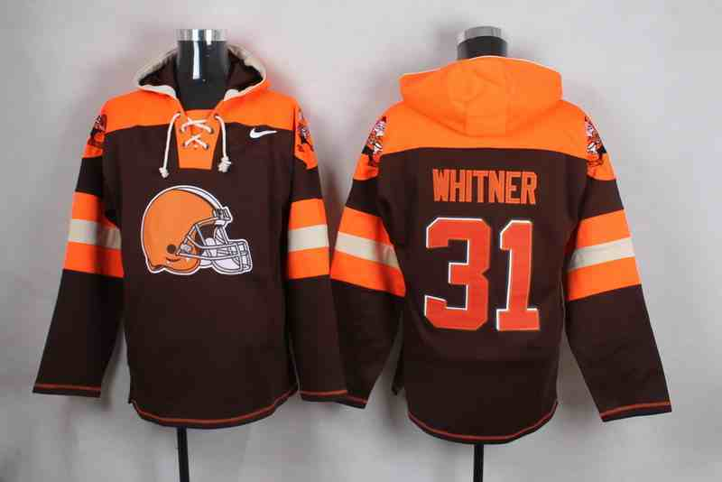Nike Browns 31 Donte Whitner Brown Hooded Jersey