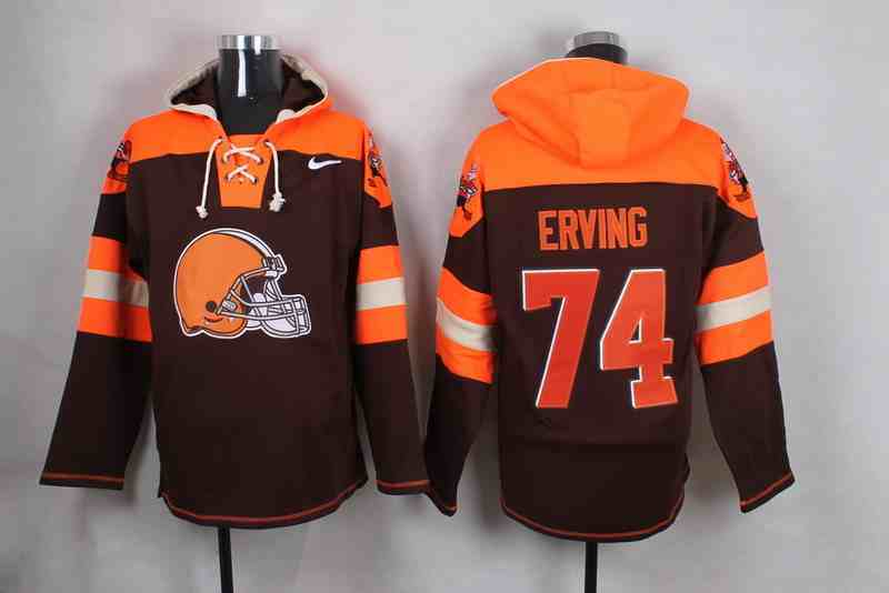 Nike Browns 74 Cameron Erving Brown Hooded Jersey