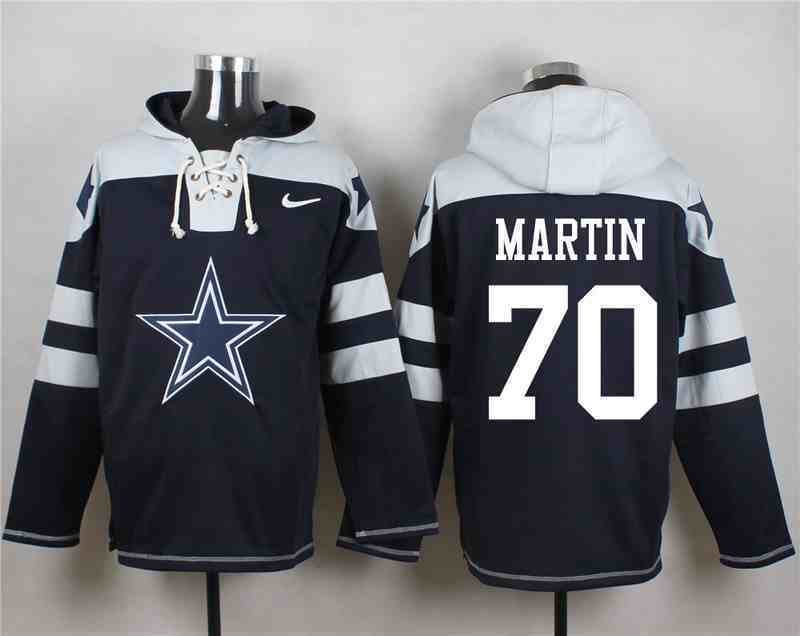 Nike Cowboys 70 Zack Martin Navy Hooded Jersey
