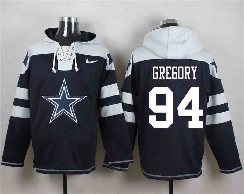 Nike Cowboys 94 Randy Gregory Navy Hooded Jersey