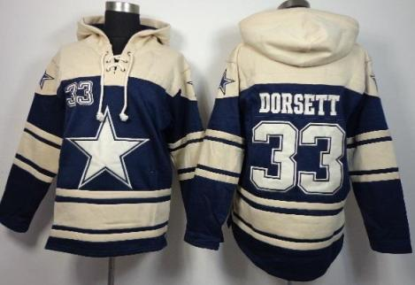 Nike Dallas Cowboys #33 Tony Dorsett Blue Sawyer Hooded Sweatshirt NFL Hoodie