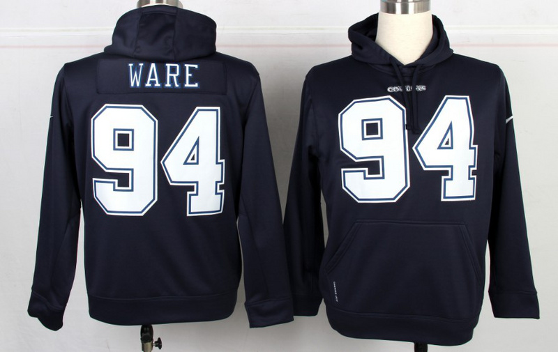 NFL Dallas Cowboys #94 DeMarcus Ware Blue Hoodie