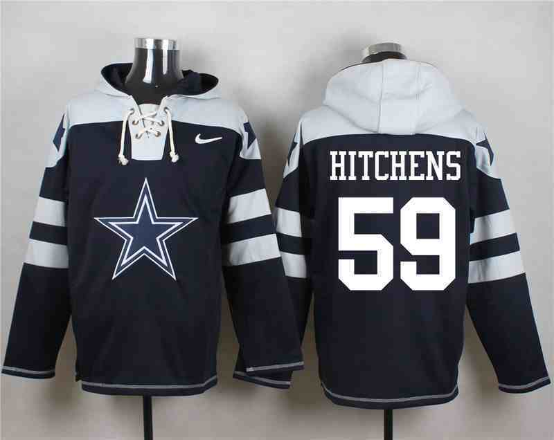 Nike Cowboys 59 Anthony Hitchens Navy Hooded Jersey