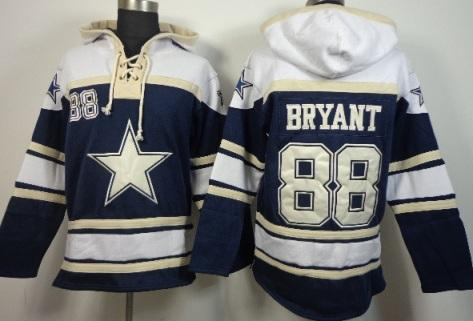 Dallas Cowboys 88 Dez Bryant Blue Grey NFL Hoodie