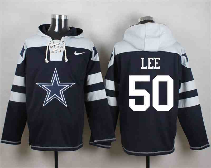 Nike Cowboys 50 Sean Lee Navy Hooded Jersey