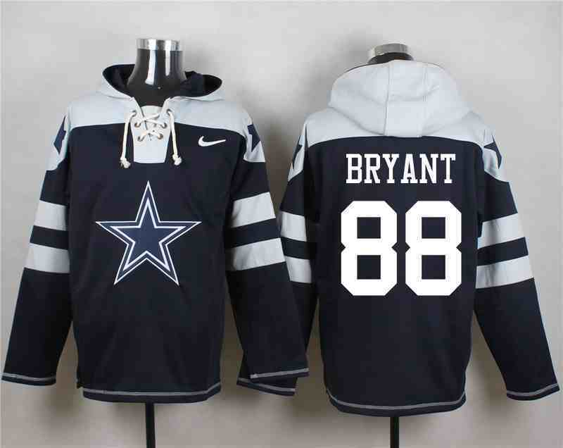 Nike Cowboys 88 Dez Bryant Navy Hooded Jersey