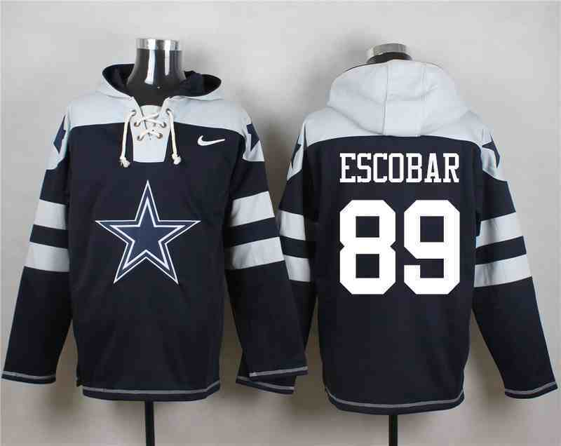 Nike Cowboys 89 Gavin Escobar Navy Hooded Jersey