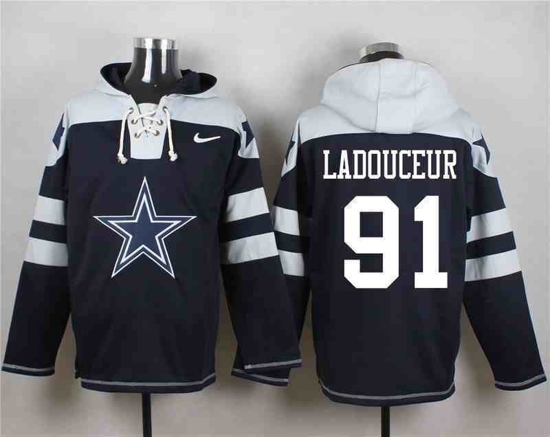 Nike Cowboys 91 L.P. Ladouceur Navy Hooded Jersey