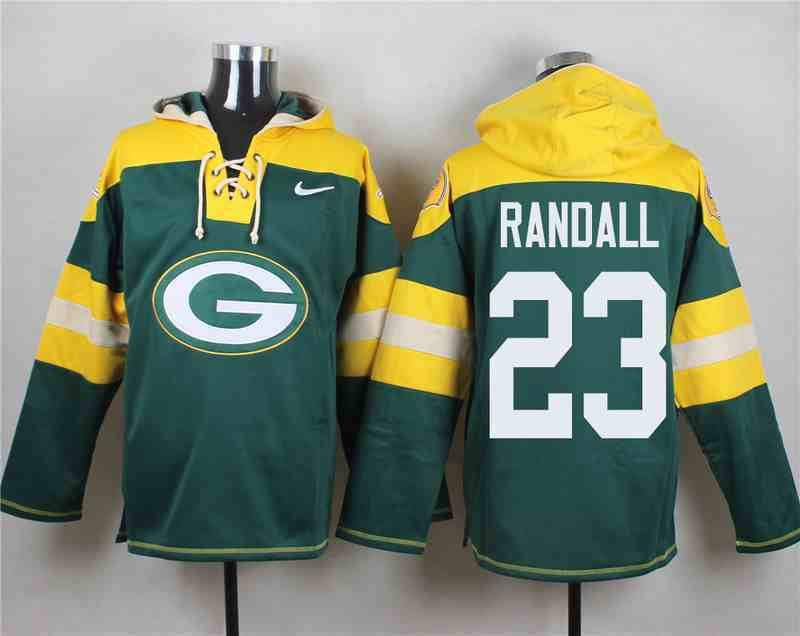 Nike Packers 23 Damarious Randall Green Hooded Jersey