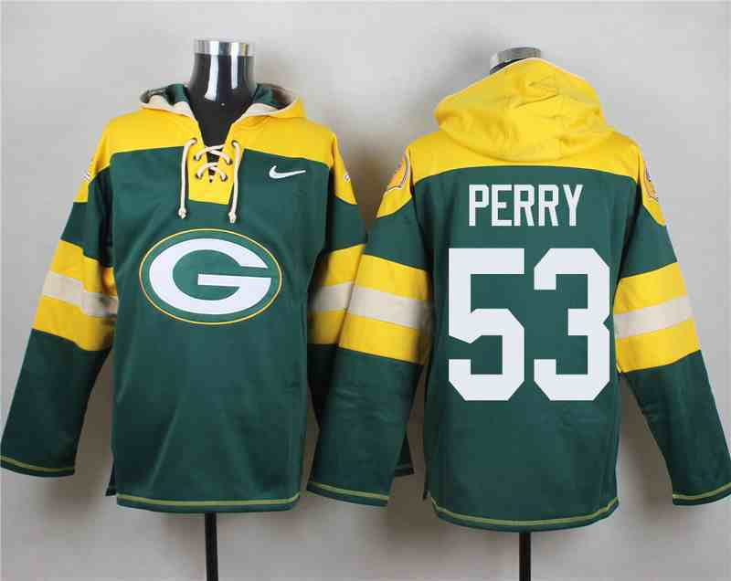 Nike Packers 53 Nick Perry Green Hooded Jersey