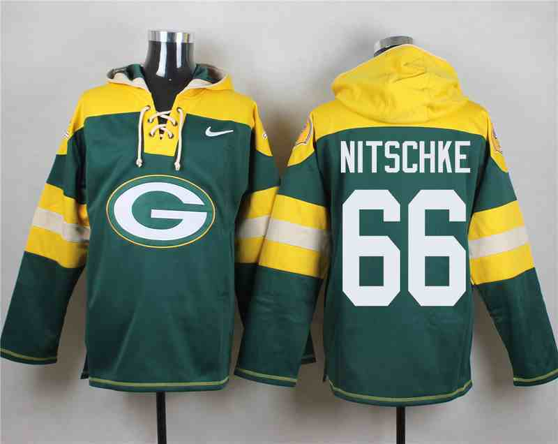 Nike Packers 66 Ray Nitschke Green Hooded Jersey