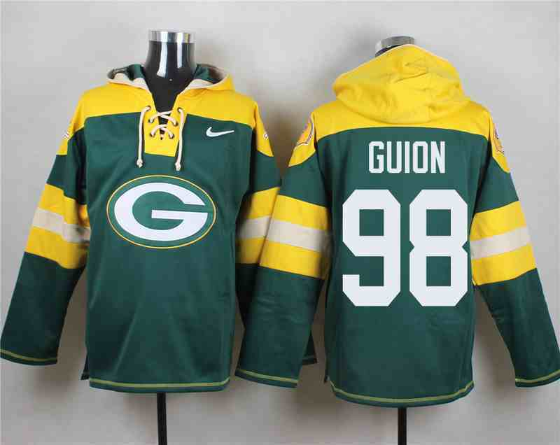 Nike Packers 98 Letroy Guion Green Hooded Jersey