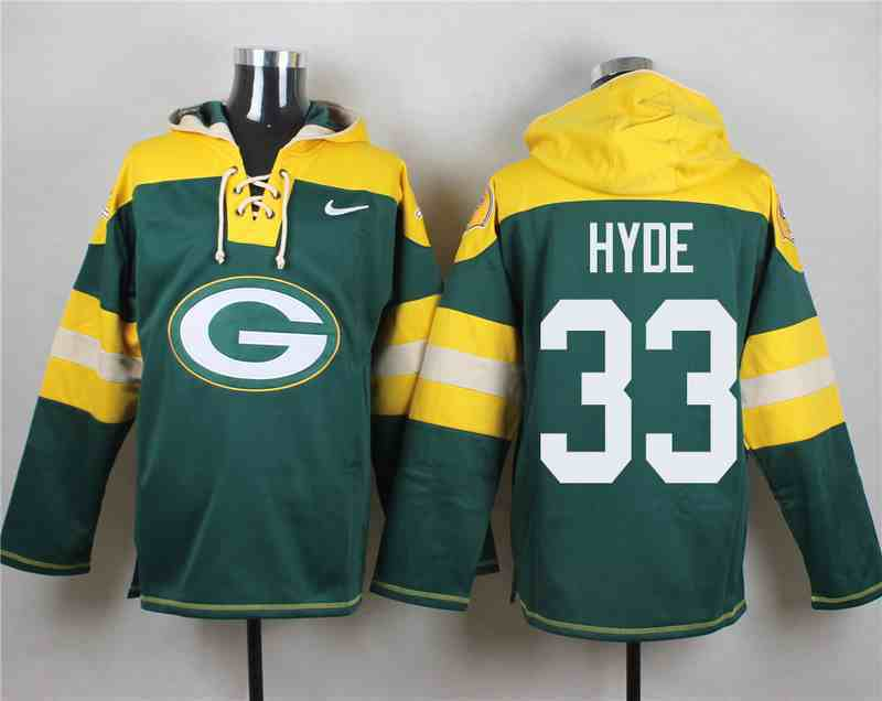 Nike Packers 33 Micah Hyde Green Hooded Jersey
