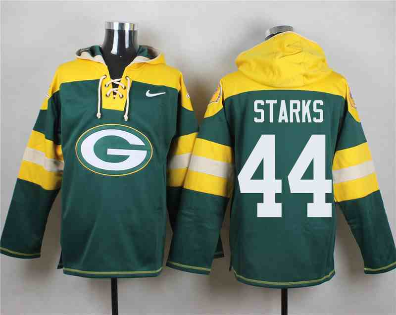 Nike Packers 44 James Starks Green Hooded Jersey