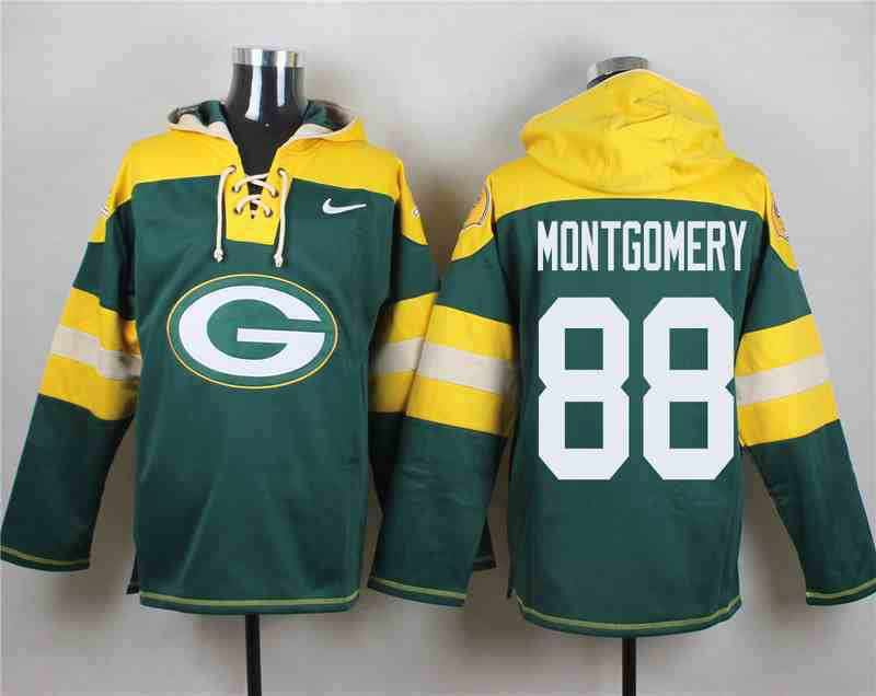 Nike Packers 88 Ty Montgomery Green Hooded Jersey