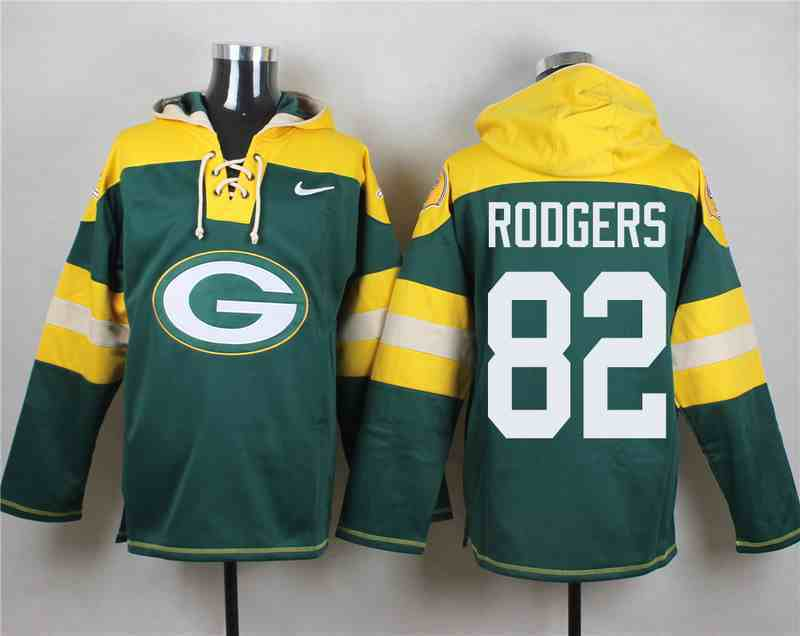 Nike Packers 82 Aaron Rodgers Green Hooded Jersey
