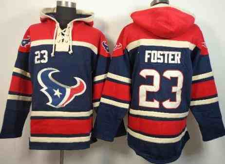 Houston Texans 23 Arian Foster Blue Red NFL Hoodie