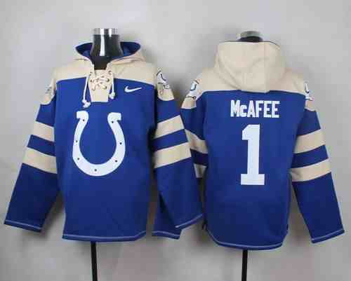 Nike Colts 1 Pat McAfee Blue Hooded Jersey