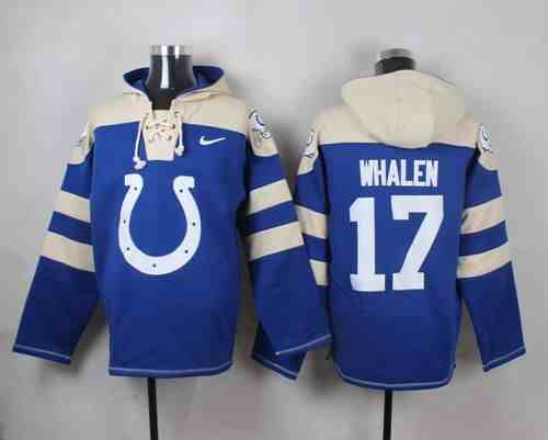 Nike Colts 17 Griff Whalen Blue Hooded Jersey