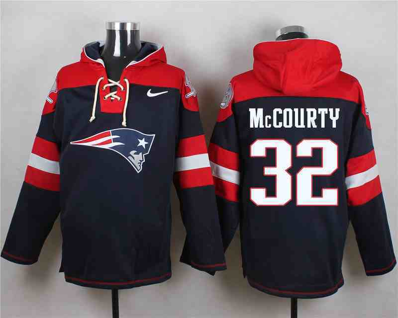 Nike Patriots 32 Devin McCourty Navy Hooded Jersey