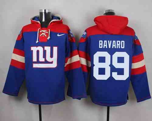 Nike Giants 89 Bavaro Blue Hooded Jersey