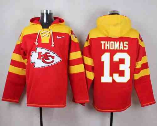 Nike Chiefs 13 De'Anthony Thomas Red Hooded Jersey