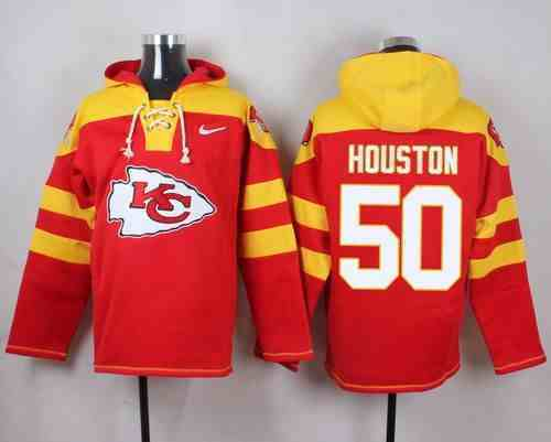 Nike Chiefs 50 Justin Houston Red Hooded Jersey