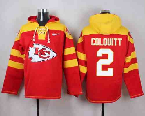 Nike Chiefs 2 Dustin Colquitt Red Hooded Jersey