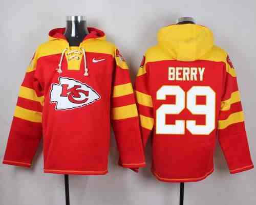 Nike Chiefs 29 Eric Berry Red Hooded Jersey
