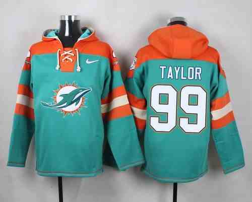 Nike Dolphins 99 Jason Taylor Green Hooded Jersey