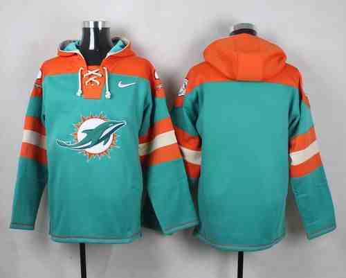 Nike Dolphins Blank Green Hooded Jersey
