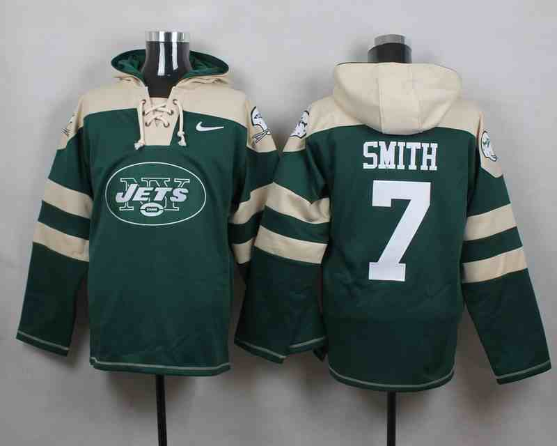 Nike Jets 7 Geno Smith Green Hooded Jersey