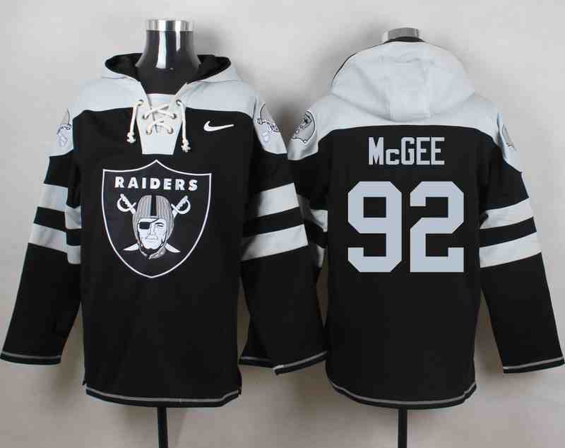 Nike Raiders 92 Stacy McGee Black Hooded Jersey