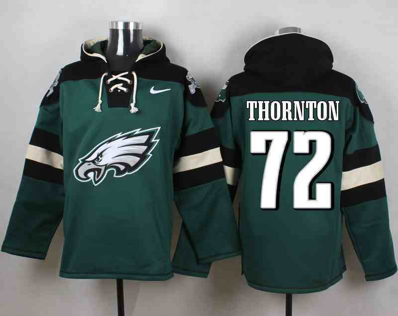 Nike Eagles 72 THORNTON Green Hooded Jersey