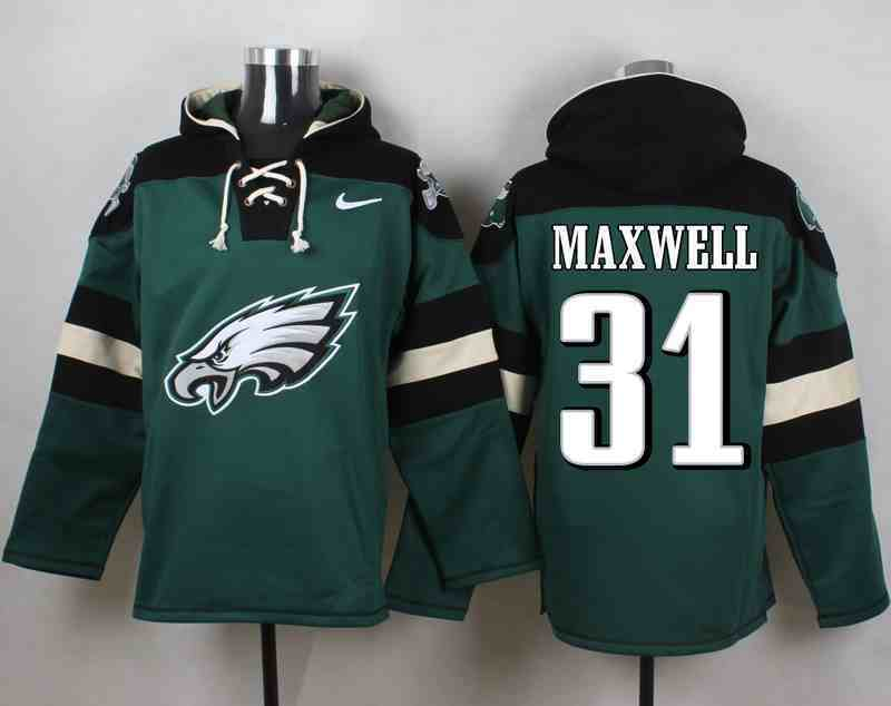 Nike Eagles 31 MAXWELL Green Hooded Jersey