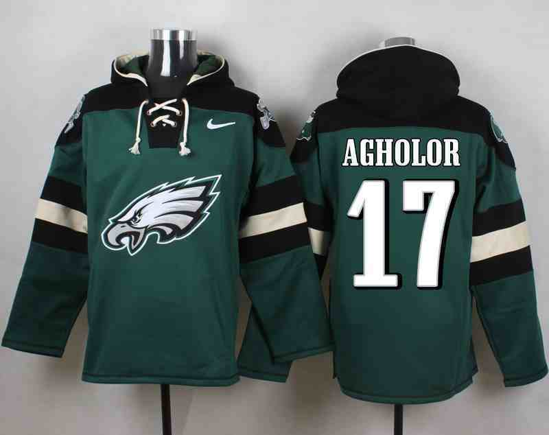 Nike Eagles 17 Nelson Agholor Green Hooded Jersey