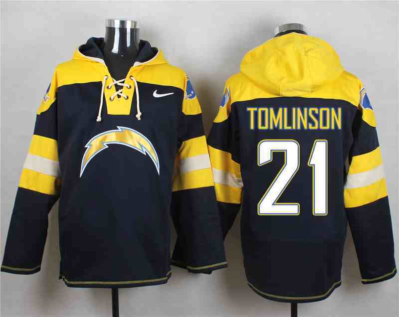 Nike Chargers 21 LaDainian Tomlinson Navy Hooded Jersey