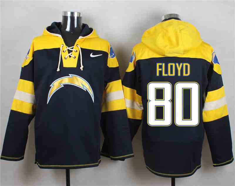Nike Chargers 80 FLOYD Navy Hooded Jersey