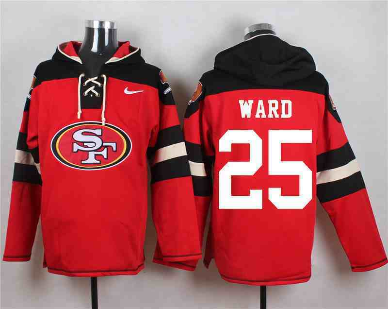 Nike 49ers 25 Jimmie Ward Red Hooded Jersey