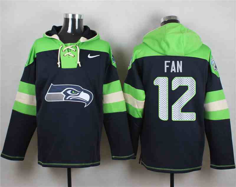 Nike Seahawks 12 Fan Navy Hooded Jersey